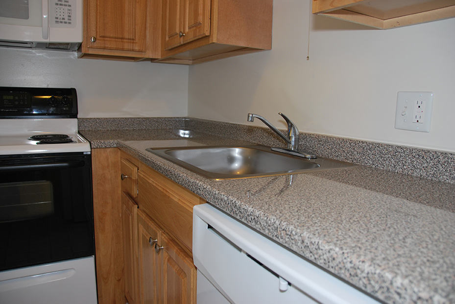 Northgate Apartments Kitchen Cabinets and Countertop