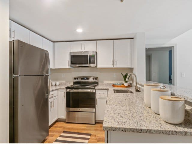 kitchen in a Strata apartment in Malden, MA