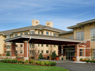 exterior of Linden Ponds Retirement Homes in Hingham, MA