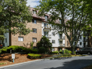 street view of a Weymouth Commons apartment building in Weymouth, MA